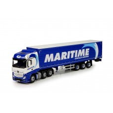Maritime Mercedes Actros Bigspace With Curtainside Trailer