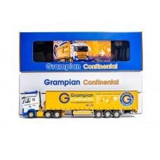 Grampian Continental Actros MP4 With 3-axle Curtainside Trailer