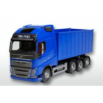 Volvo Fh04 With Roll Off Container - Blue 1:25 Scale