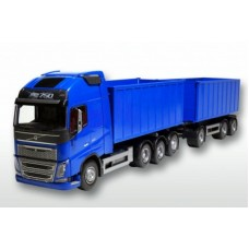 Volvo Fh04 With Roll Off Containers - Blue 1:25 Scale
