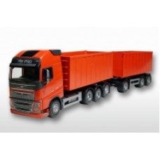 Volvo Fh04 With Roll Off Containers - Red 1:25 Scale