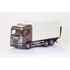 Scania Cs20H 6X4 Rigid Box - Gray 1:25 Scale