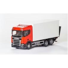Scania Cs20H 6X4 Rigid Box - Red 1:25 Scale