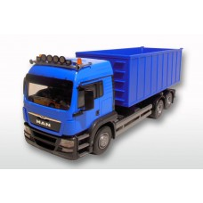 MAN TGS Blue Cab Blue Roll Off Container