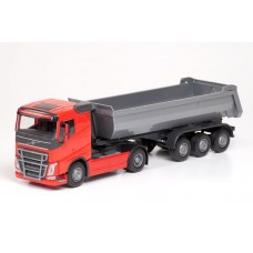 Volvo FH04 4x2 Red Cab With 3 Axle Tipper Trailer