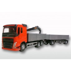 Volvo FH04 6x2 Red Cab Open Platform HIIAB with Trailer