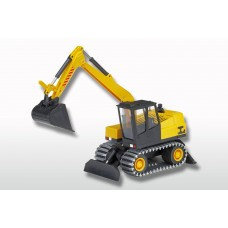 Wheeled Excavator with chains