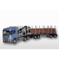 Scania CR500 6x4 Blue Cab Timber Trailer HIIAB
