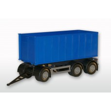 3 Axle Blue Roll Off Container